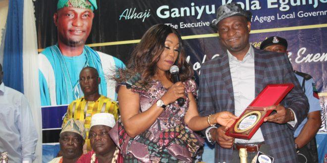 Agege council Chairman Hon.Ganiyu Egunjobi bags NAPTIP Award